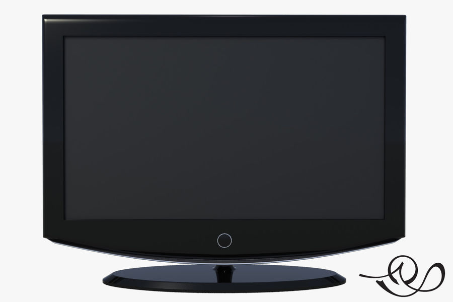 LCD TV royalty-free 3d model - Preview no. 1