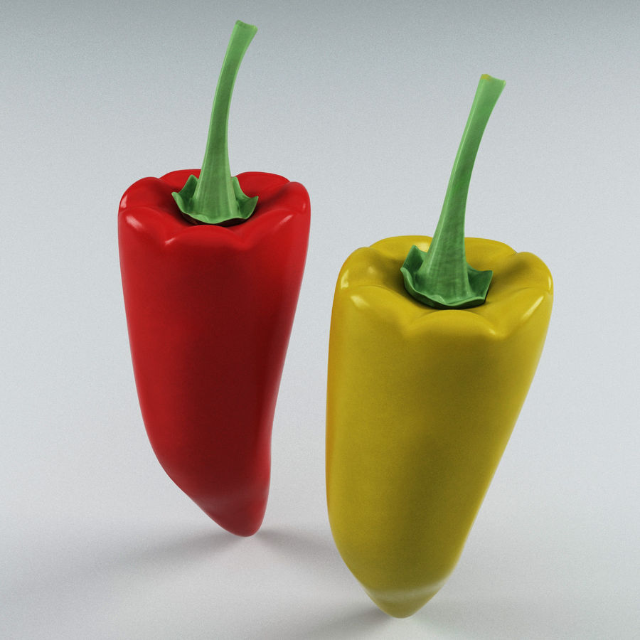 Peppers Hot royalty-free 3d model - Preview no. 4
