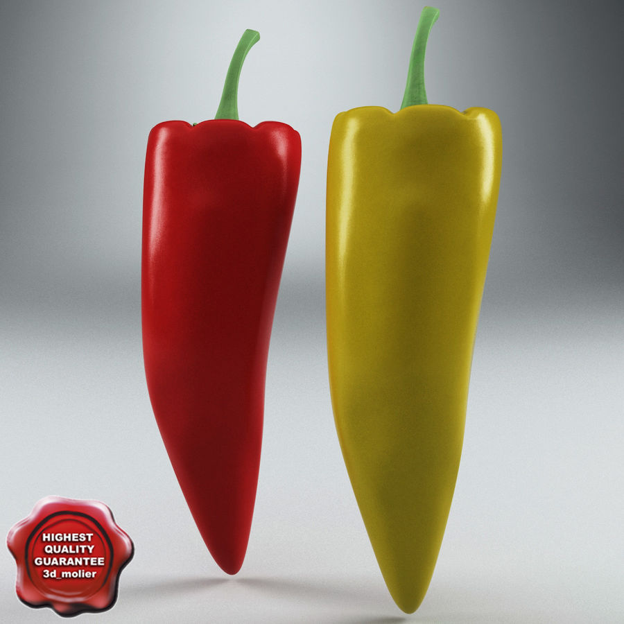 Peppers Hot royalty-free 3d model - Preview no. 1