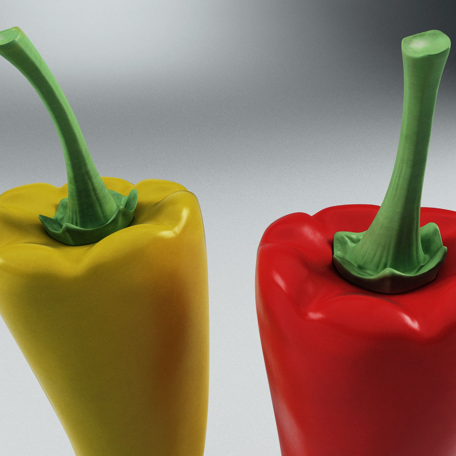 Peppers Hot royalty-free 3d model - Preview no. 8