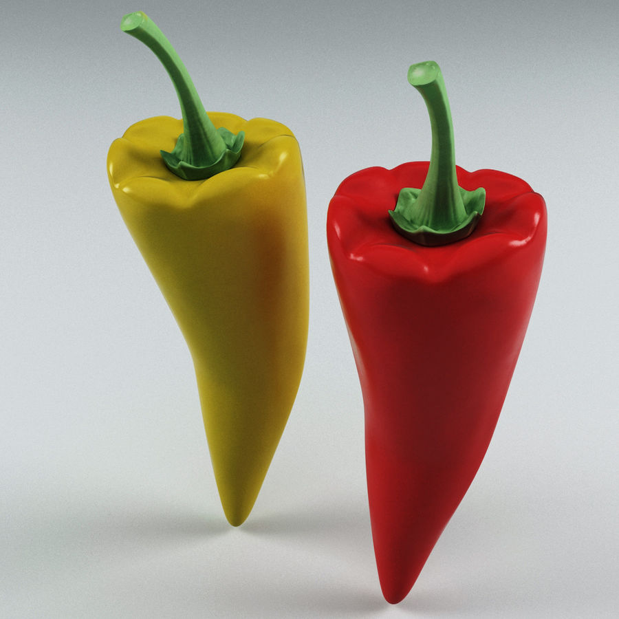 Peppers Hot royalty-free 3d model - Preview no. 5