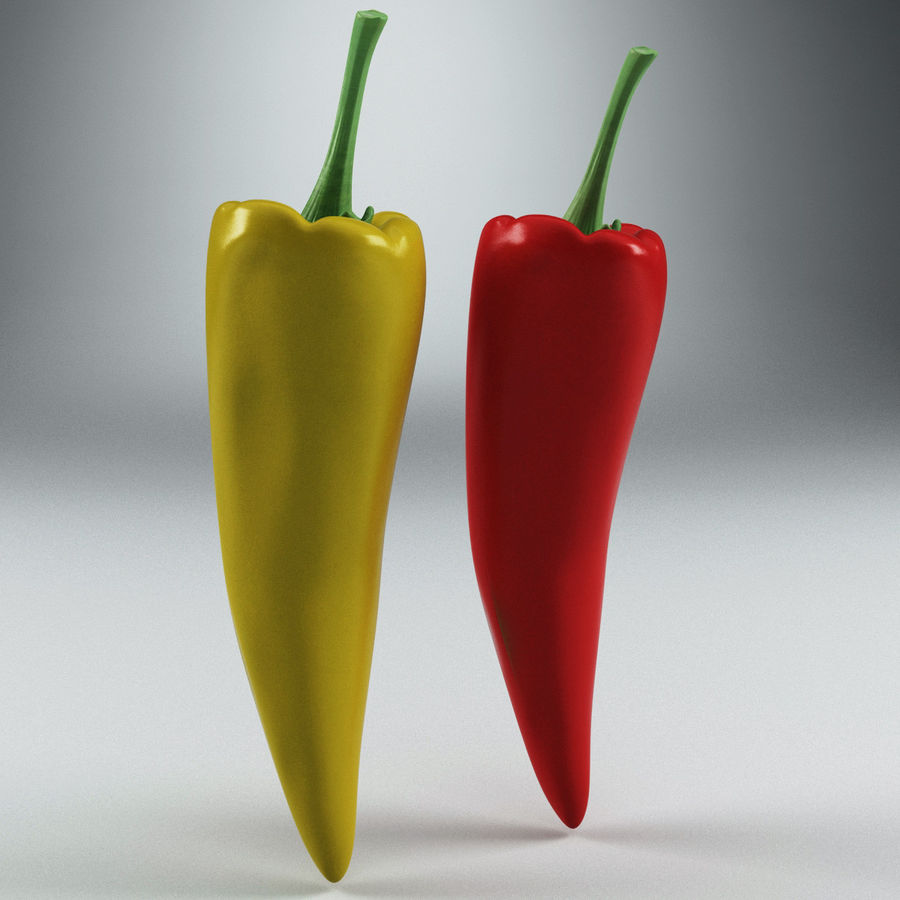 Peppers Hot royalty-free 3d model - Preview no. 3