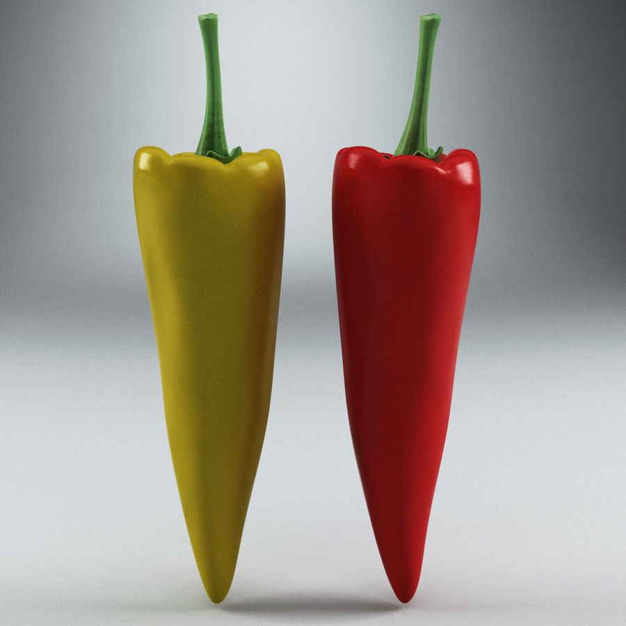 Peppers Hot royalty-free 3d model - Preview no. 2