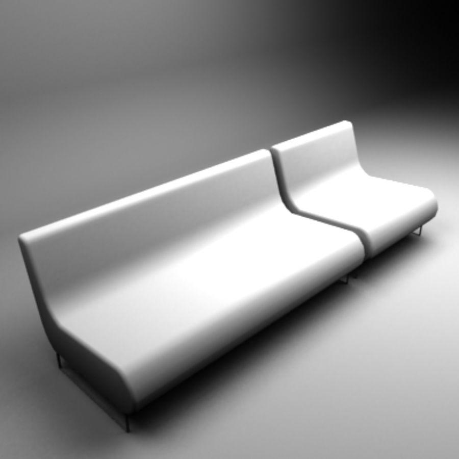 Loenec sofa royalty-free 3d model - Preview no. 1