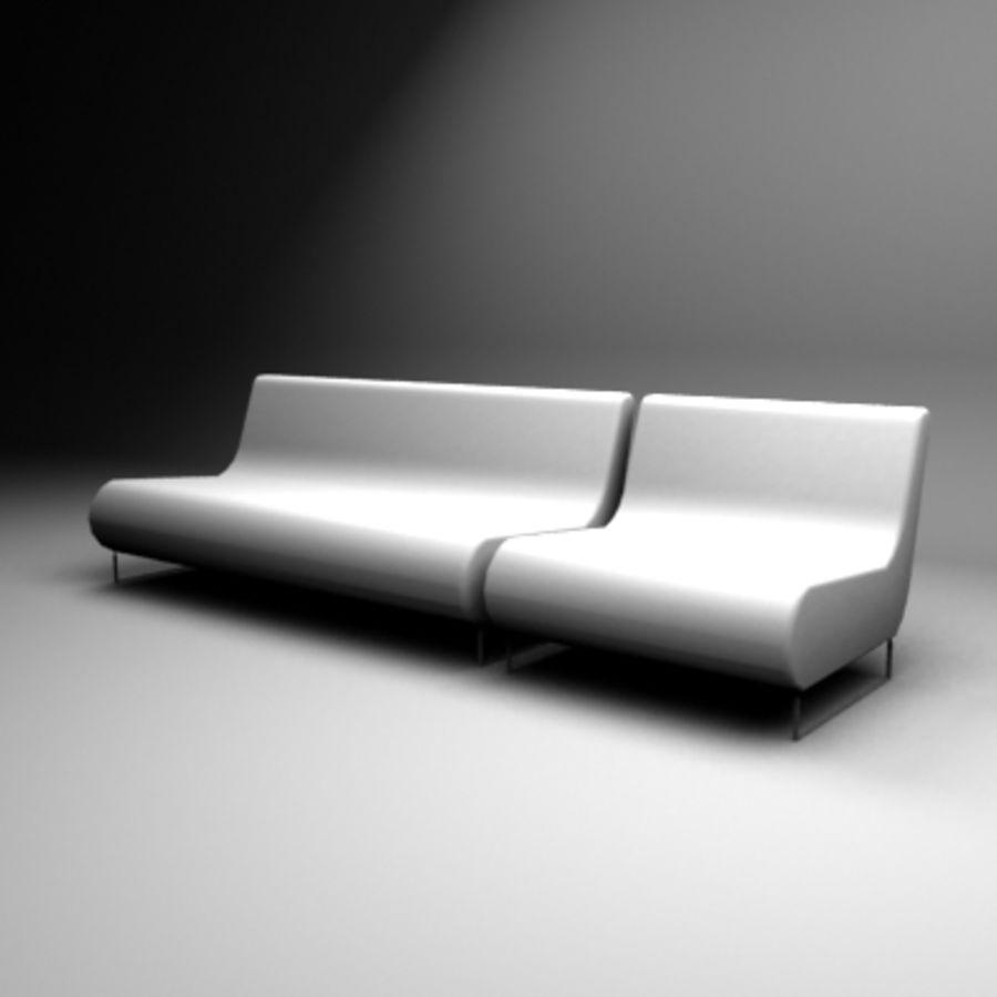 Loenec sofa royalty-free 3d model - Preview no. 2