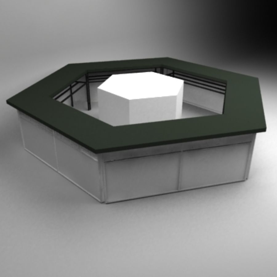 Hexagon bar royalty-free 3d model - Preview no. 2