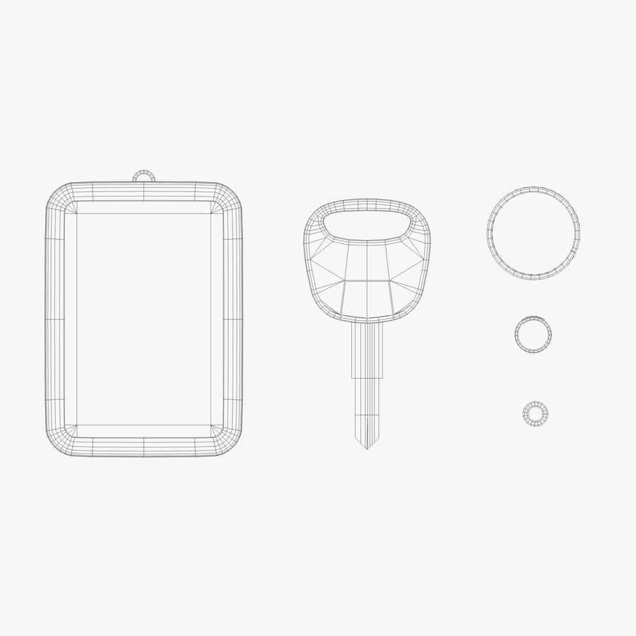 Key Chain royalty-free 3d model - Preview no. 4