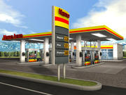 Posto de gasolina 3d model