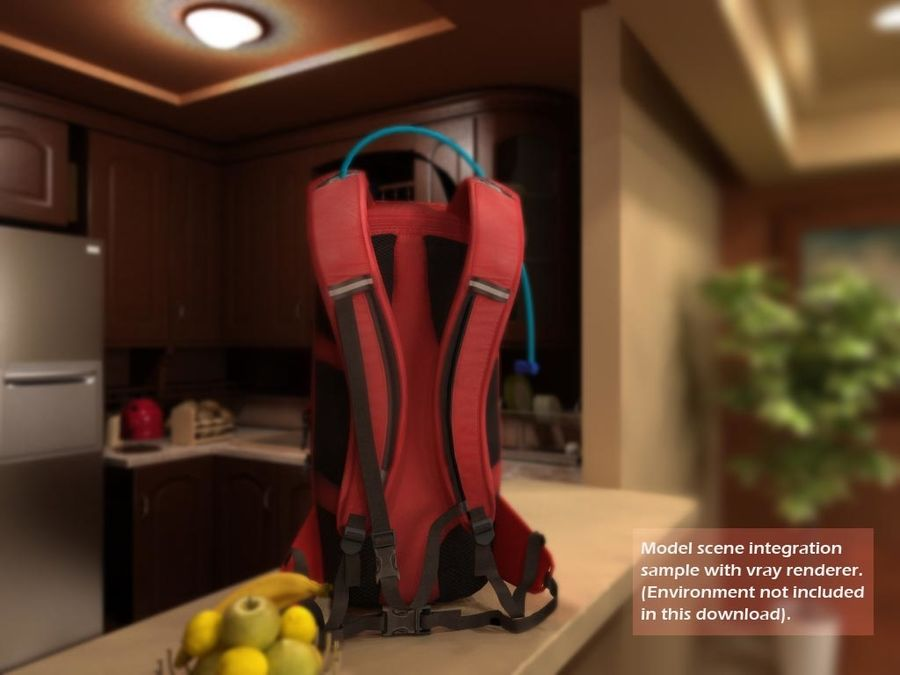Camelbak Bag royalty-free 3d model - Preview no. 3