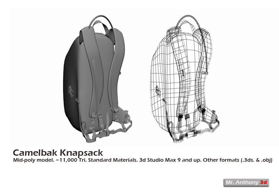 Camelbak Bag royalty-free 3d model - Preview no. 2