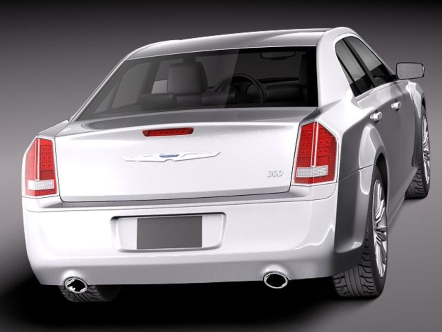 Chrysler 300c 2012 royalty-free 3d model - Preview no. 5