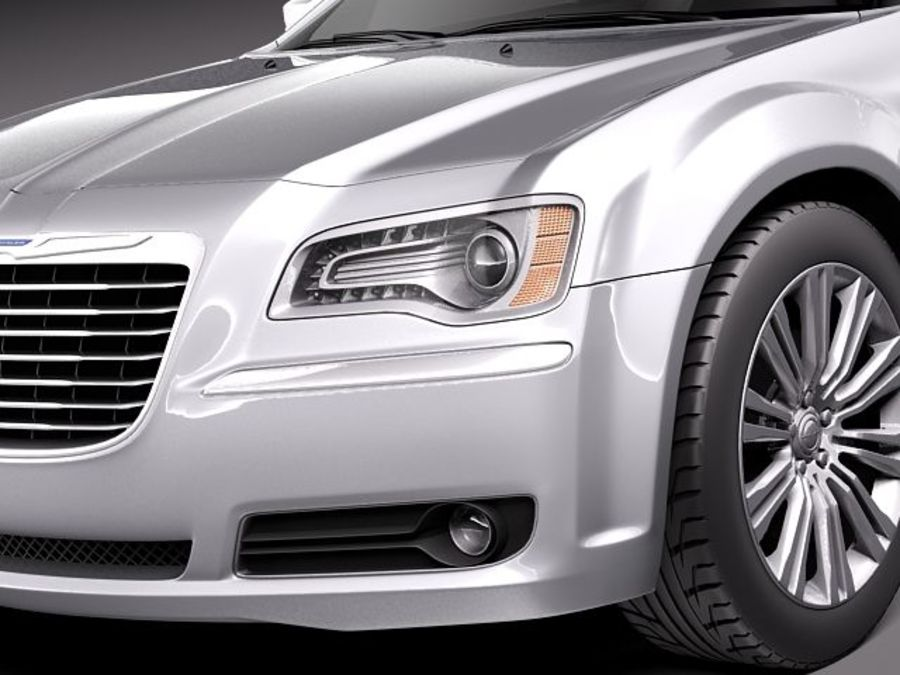 Chrysler 300c 2012 royalty-free 3d model - Preview no. 3