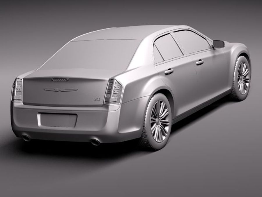 Chrysler 300c 2012 royalty-free 3d model - Preview no. 12