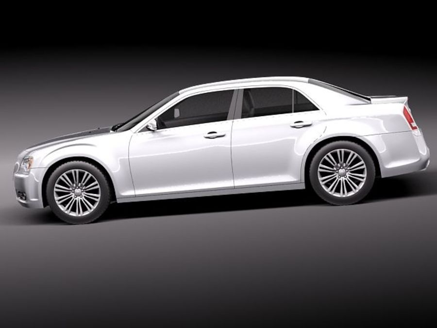 Chrysler 300c 2012 royalty-free 3d model - Preview no. 7
