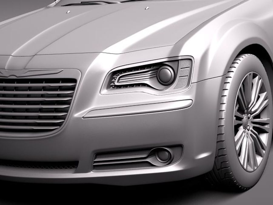 Chrysler 300c 2012 royalty-free 3d model - Preview no. 10