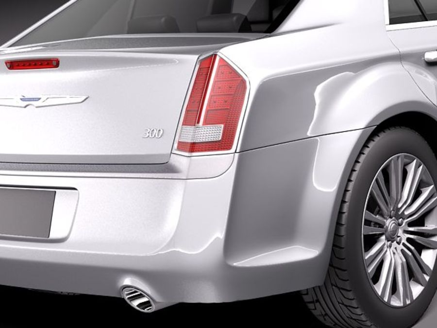 Chrysler 300c 2012 royalty-free 3d model - Preview no. 4