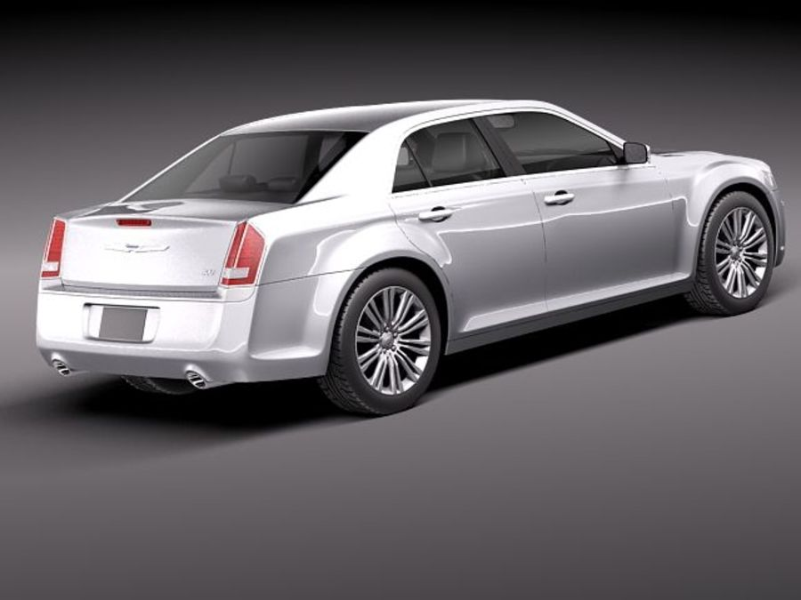 Chrysler 300c 2012 royalty-free 3d model - Preview no. 6