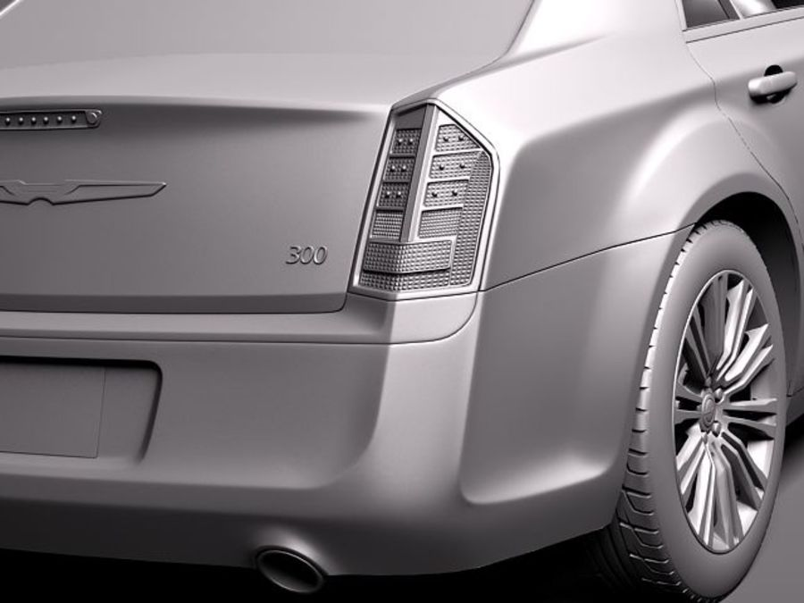 Chrysler 300c 2012 royalty-free 3d model - Preview no. 11