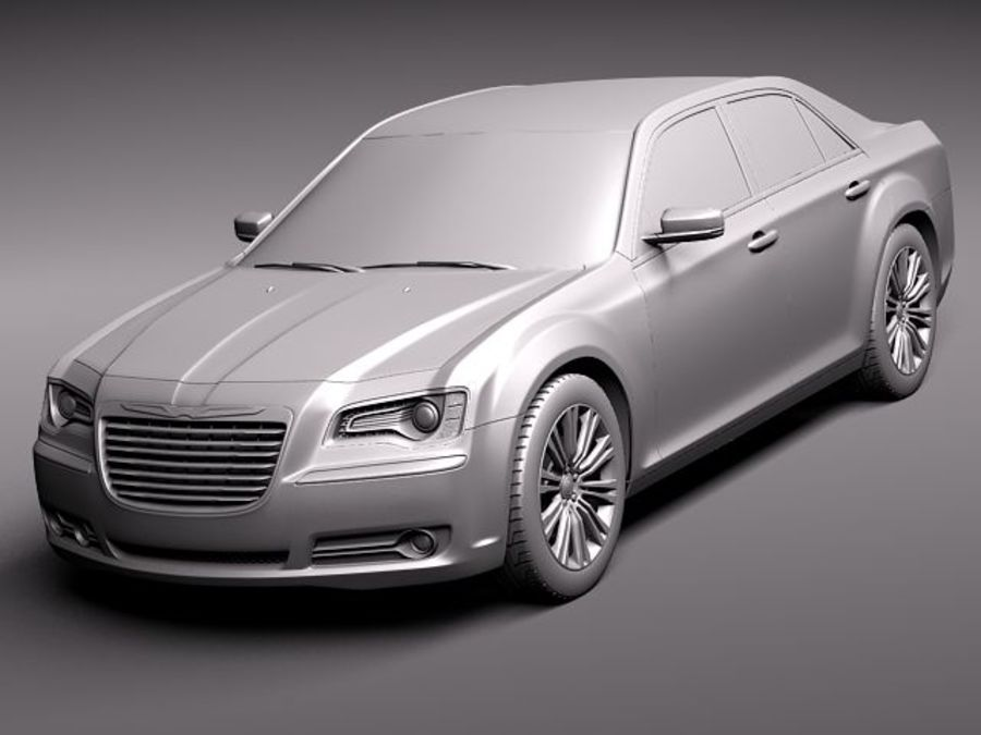 Chrysler 300c 2012 royalty-free 3d model - Preview no. 9