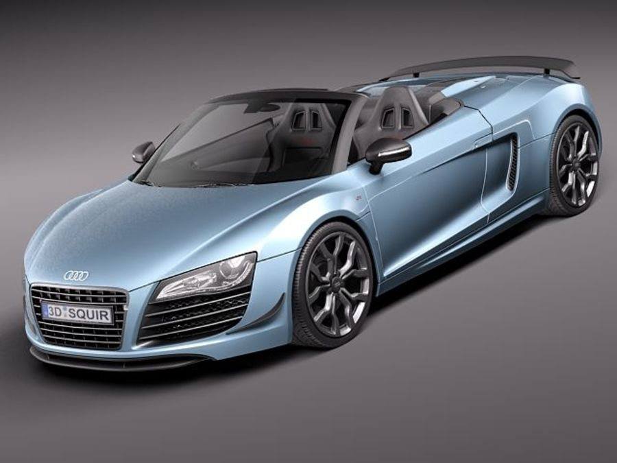 Audi R8 GT Spyder 2011 royalty-free 3d model - Preview no. 1