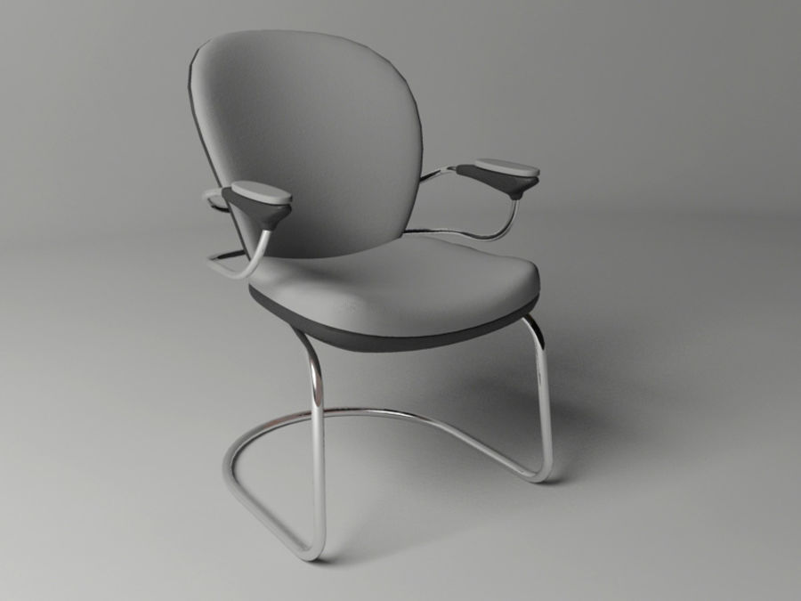 Office Chair royalty-free 3d model - Preview no. 2