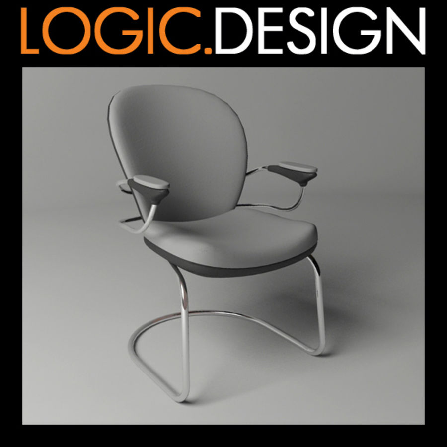 Office Chair royalty-free 3d model - Preview no. 1