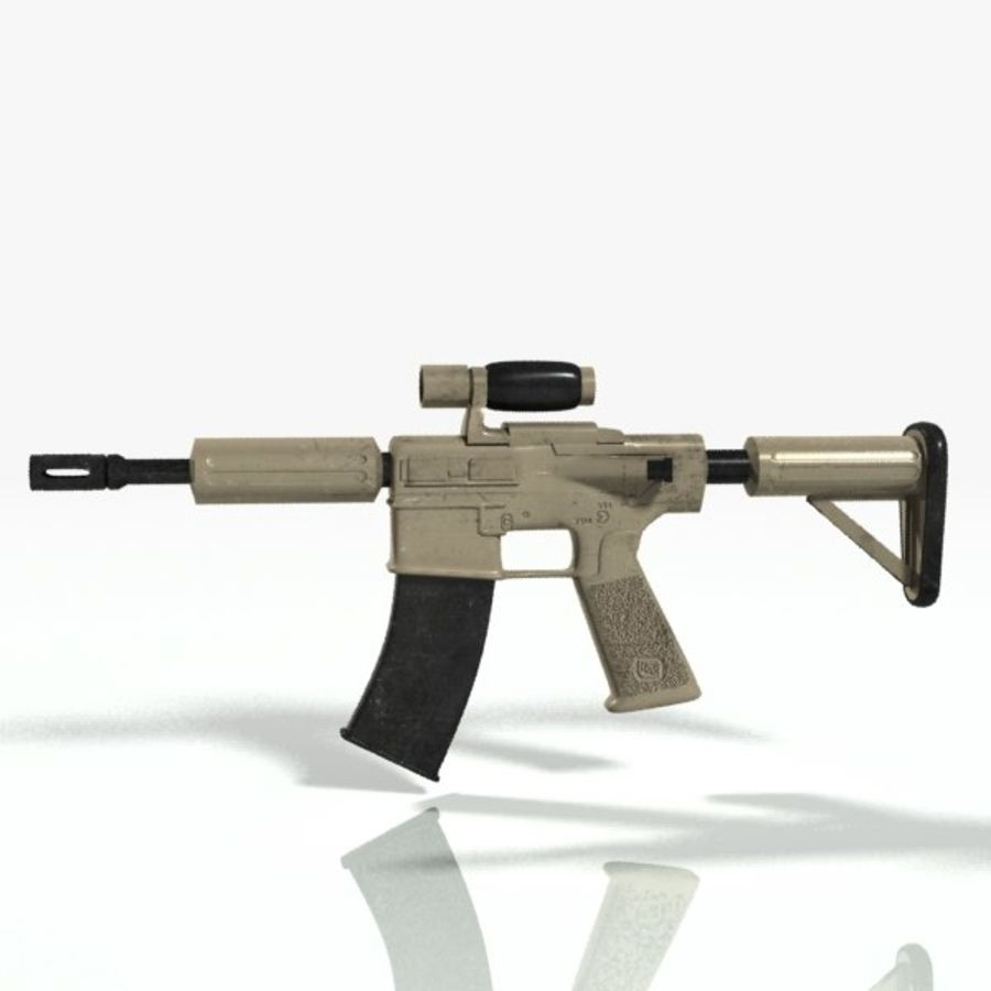 ar15 royalty-free 3d model - Preview no. 5
