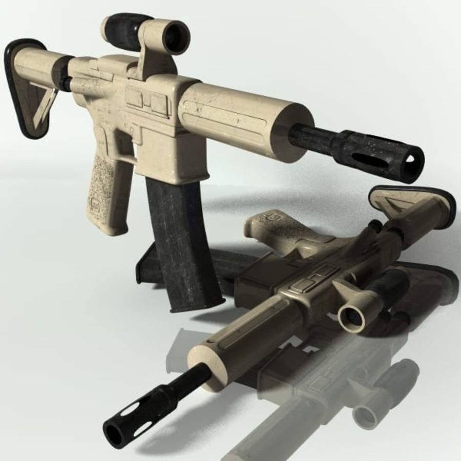 ar15 royalty-free 3d model - Preview no. 1