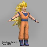 goku super saiyan 3 3d model