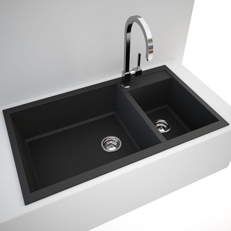 Kitchen Sink Blanco Metra 9 + Tap Gessi Quadro 3D Model