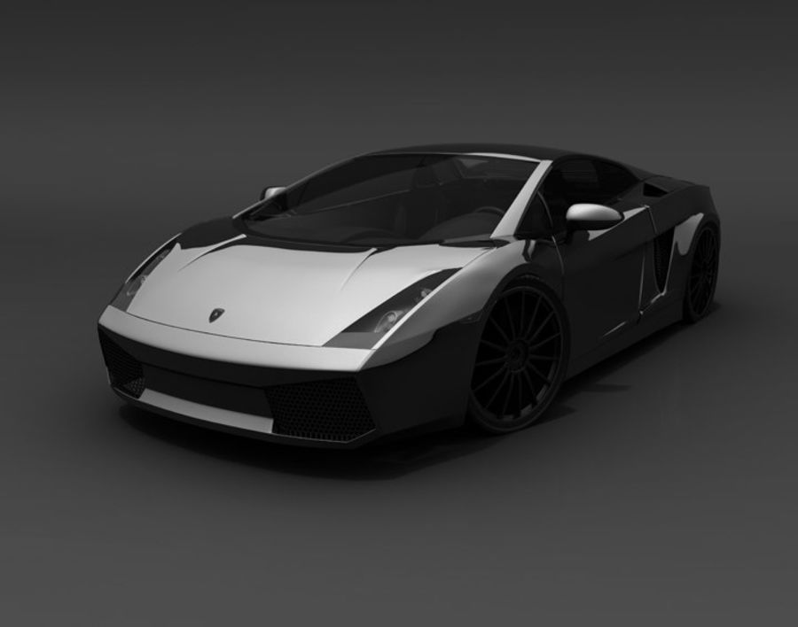 Lamborghini Gallardo royalty-free 3d model - Preview no. 4