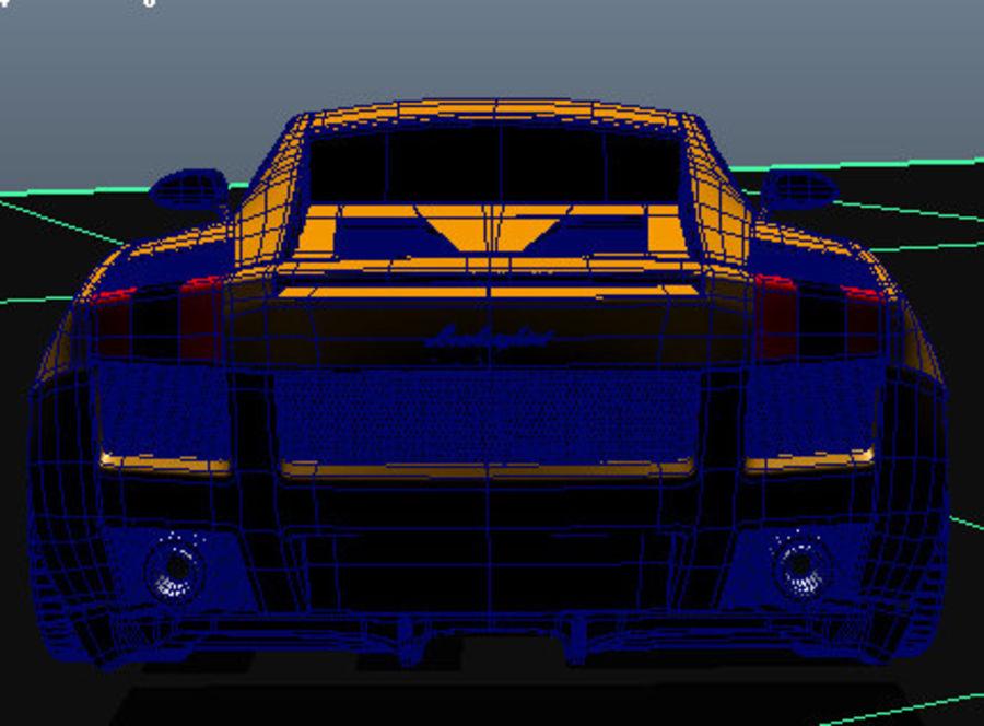 Lamborghini Gallardo royalty-free 3d model - Preview no. 2