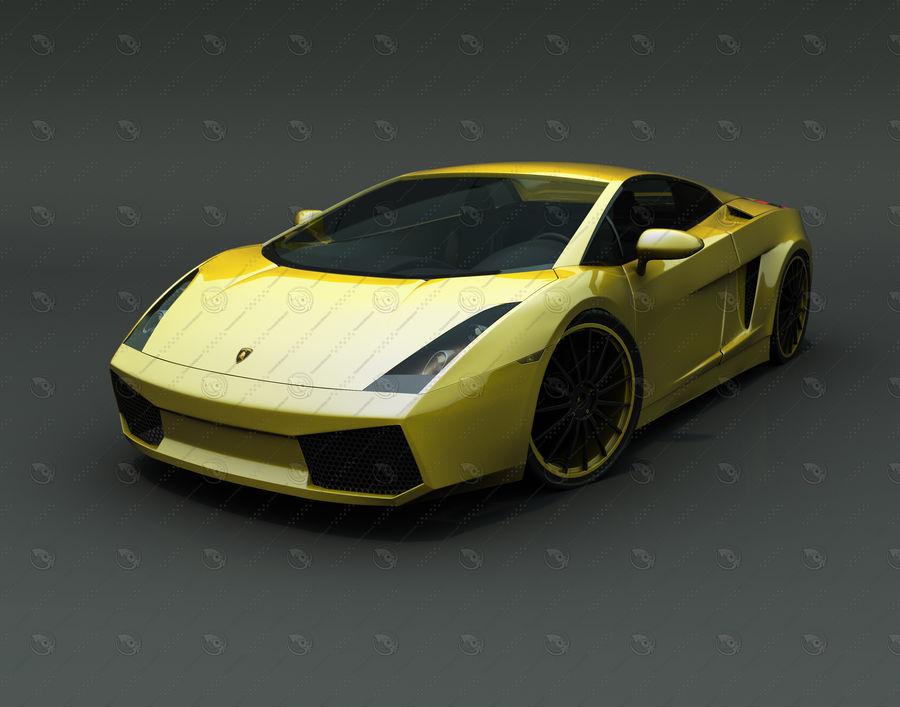 Lamborghini Gallardo royalty-free 3d model - Preview no. 1