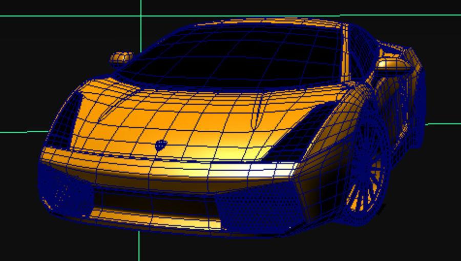 Lamborghini Gallardo royalty-free 3d model - Preview no. 3