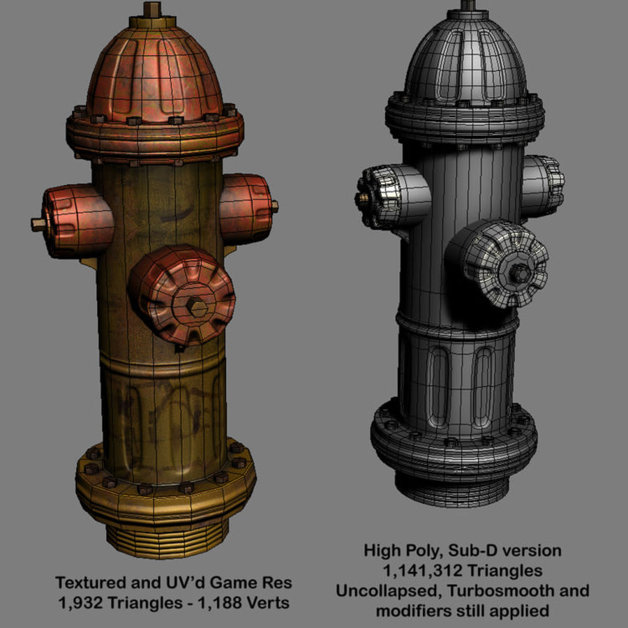 Fire Hydrant Game Prop royalty-free 3d model - Preview no. 3