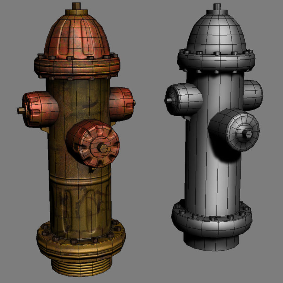 Fire Hydrant Game Prop royalty-free 3d model - Preview no. 4