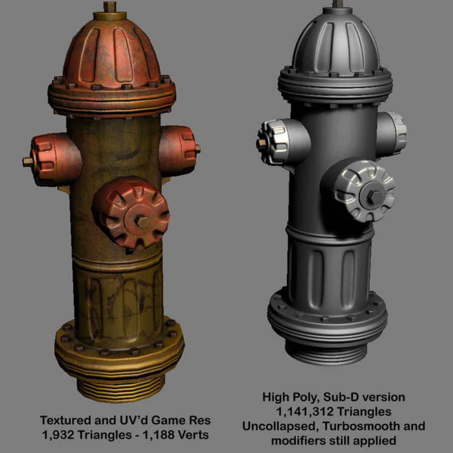 Fire Hydrant Game Prop royalty-free 3d model - Preview no. 2