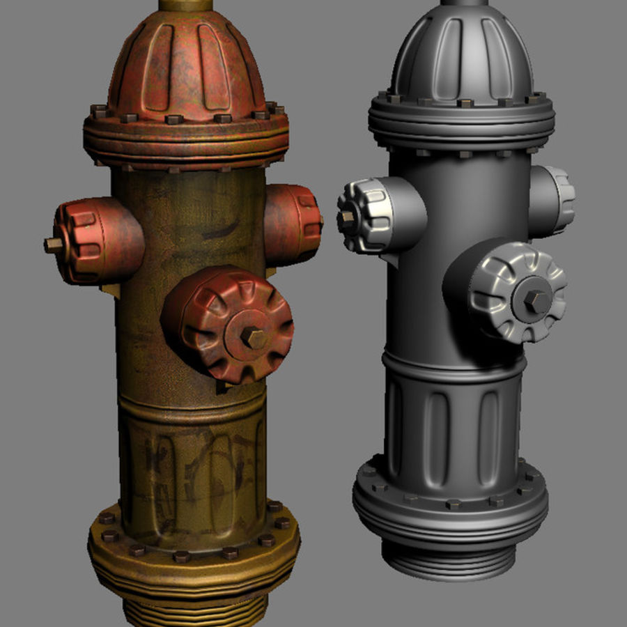Fire Hydrant Game Prop royalty-free 3d model - Preview no. 1