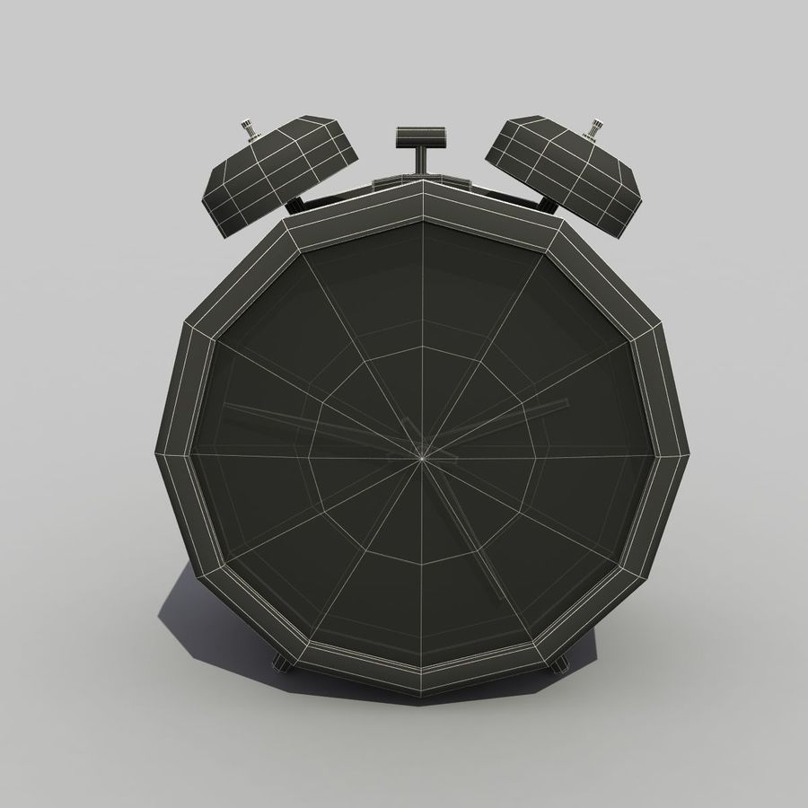 Alarm Clock royalty-free 3d model - Preview no. 10