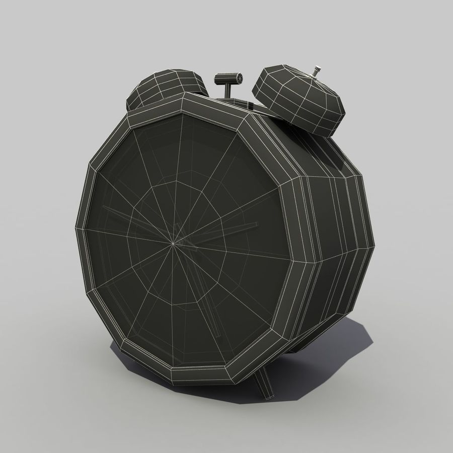 Alarm Clock royalty-free 3d model - Preview no. 8