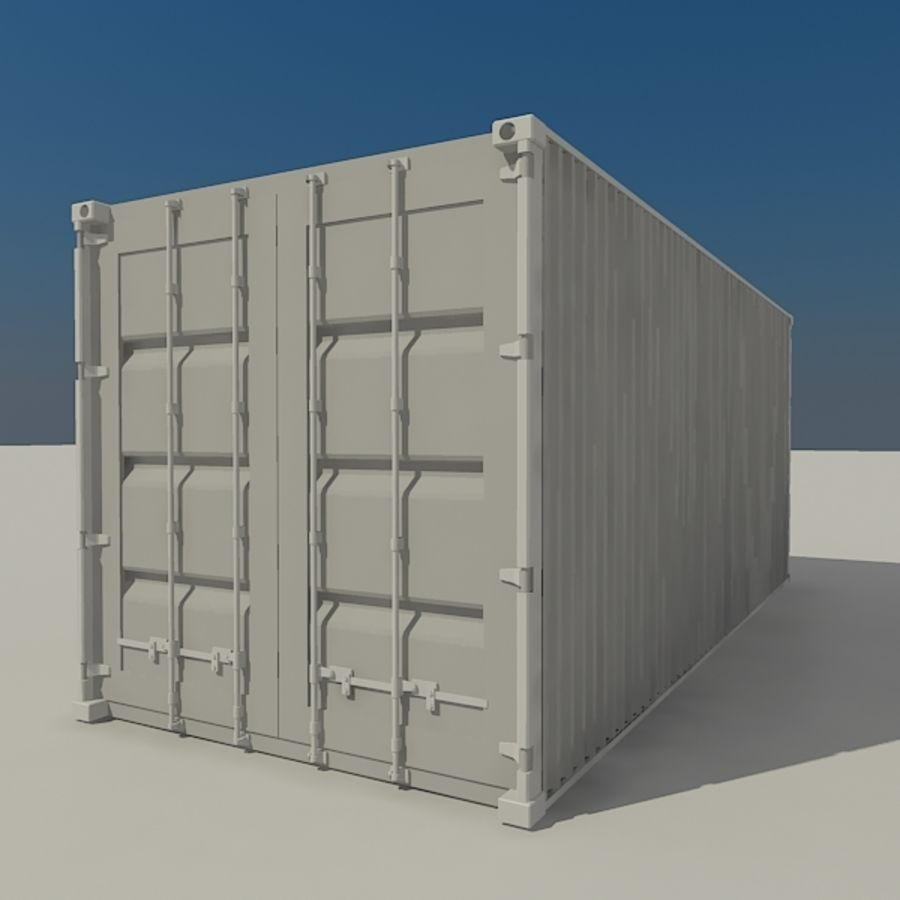 Cargo container Hanjin royalty-free 3d model - Preview no. 3