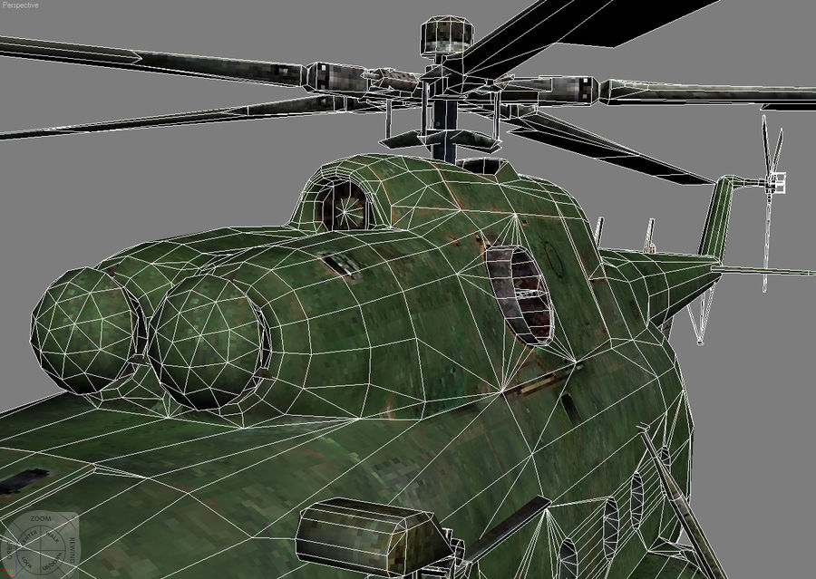Mi-8 helicopter royalty-free 3d model - Preview no. 10