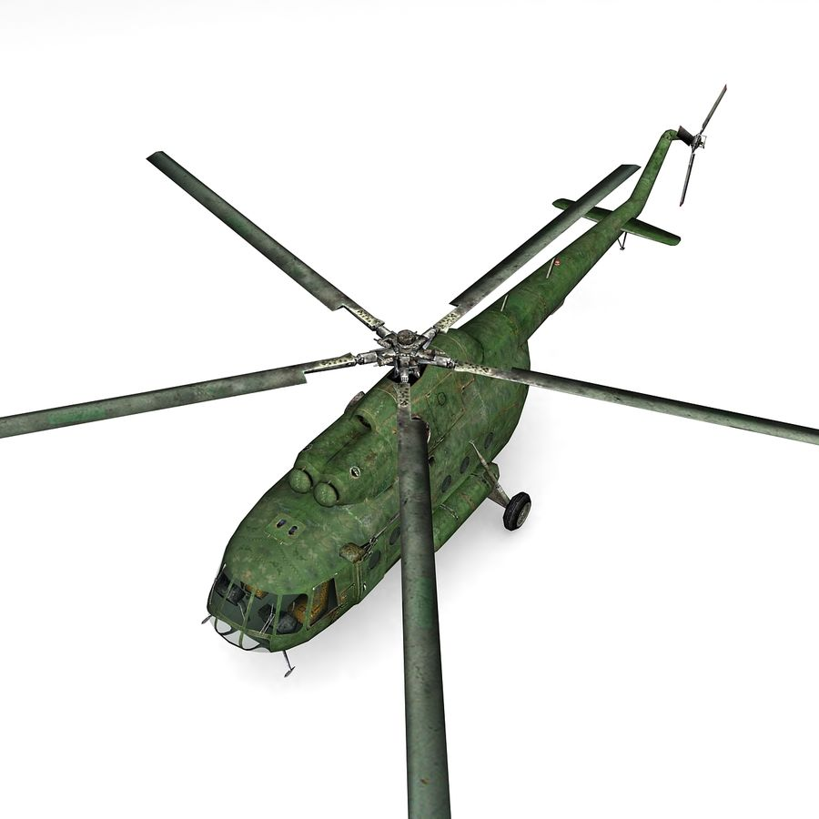 Mi-8 helicopter royalty-free 3d model - Preview no. 4