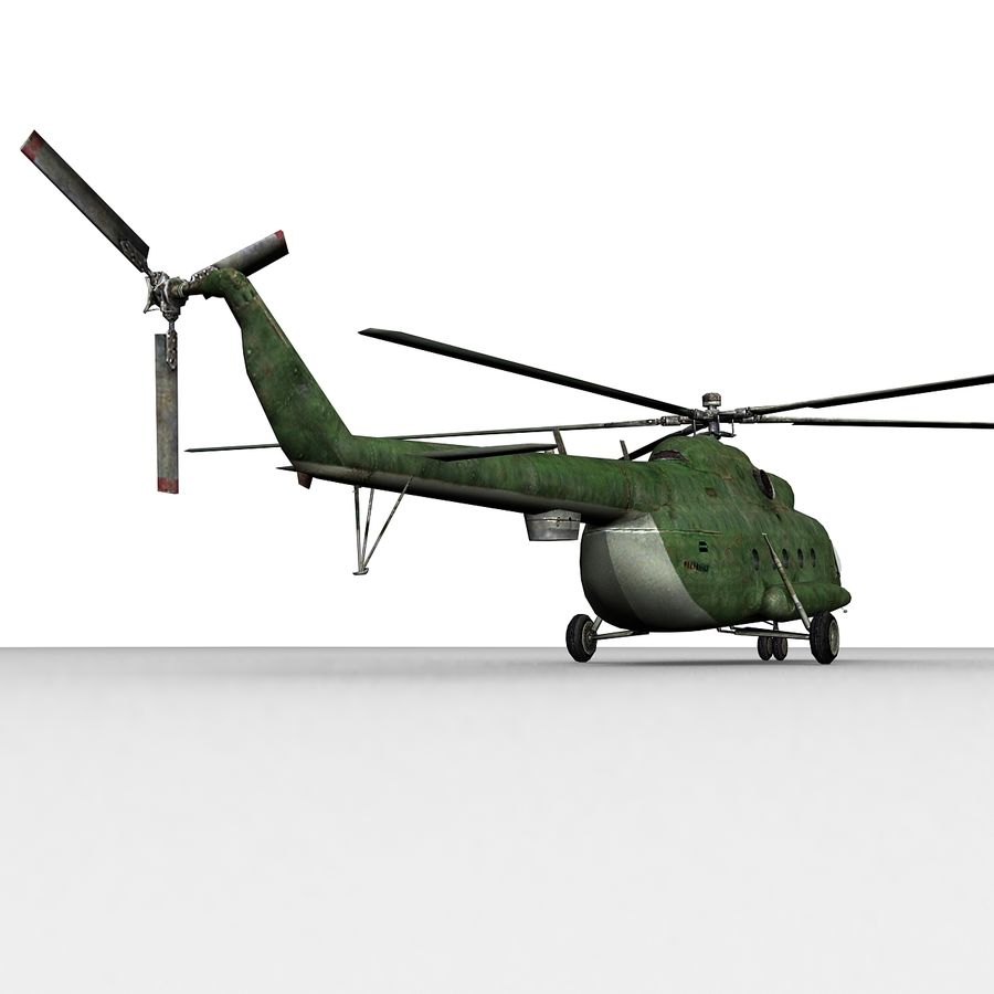 Mi-8 helicopter royalty-free 3d model - Preview no. 5