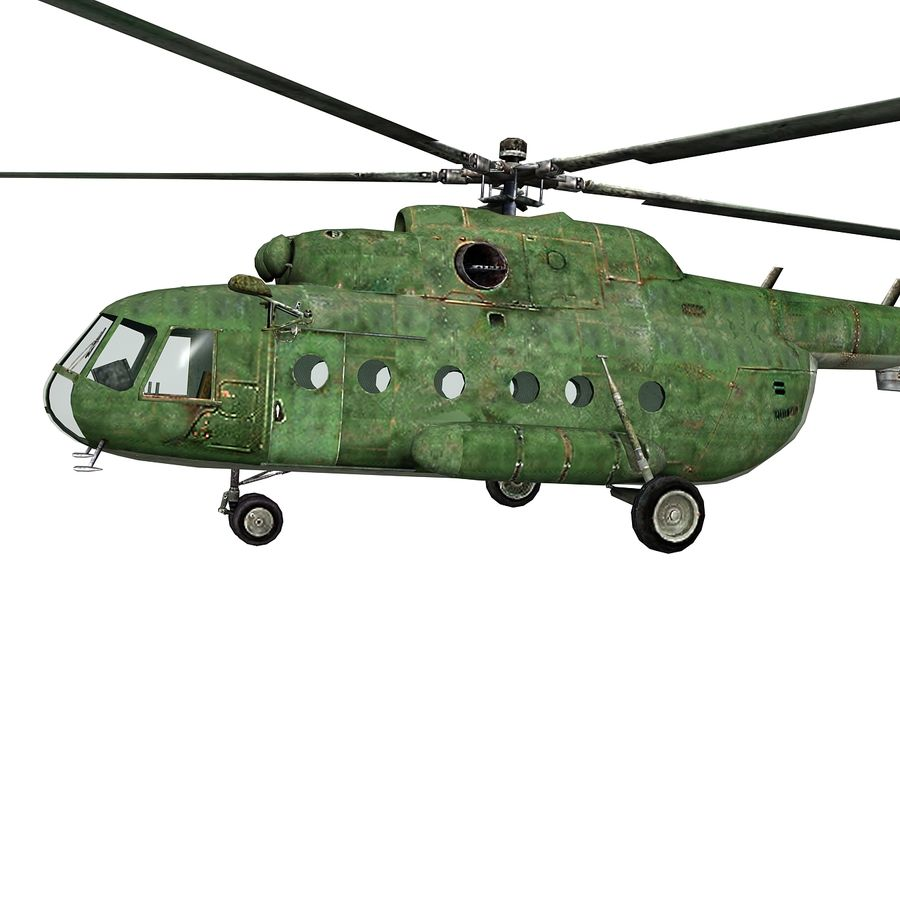 Mi-8 helicopter royalty-free 3d model - Preview no. 2