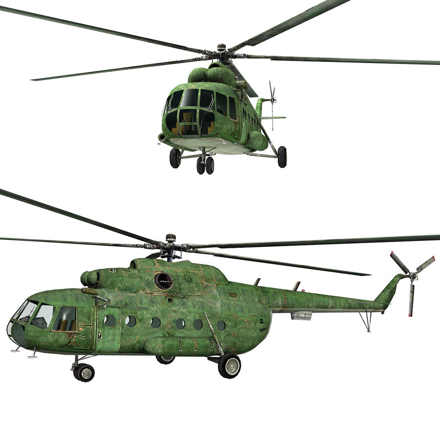 Mi-8 helicopter royalty-free 3d model - Preview no. 3