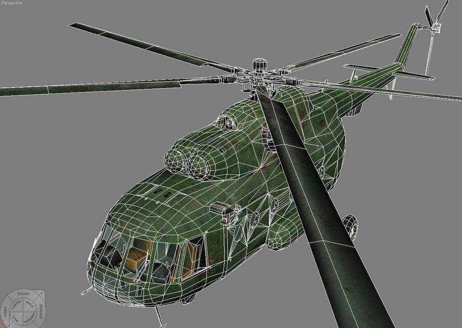 Mi-8 helicopter royalty-free 3d model - Preview no. 8