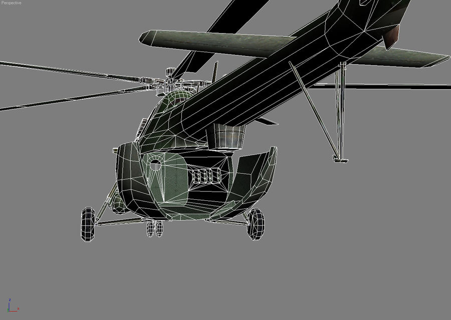 Mi-8 helicopter royalty-free 3d model - Preview no. 13