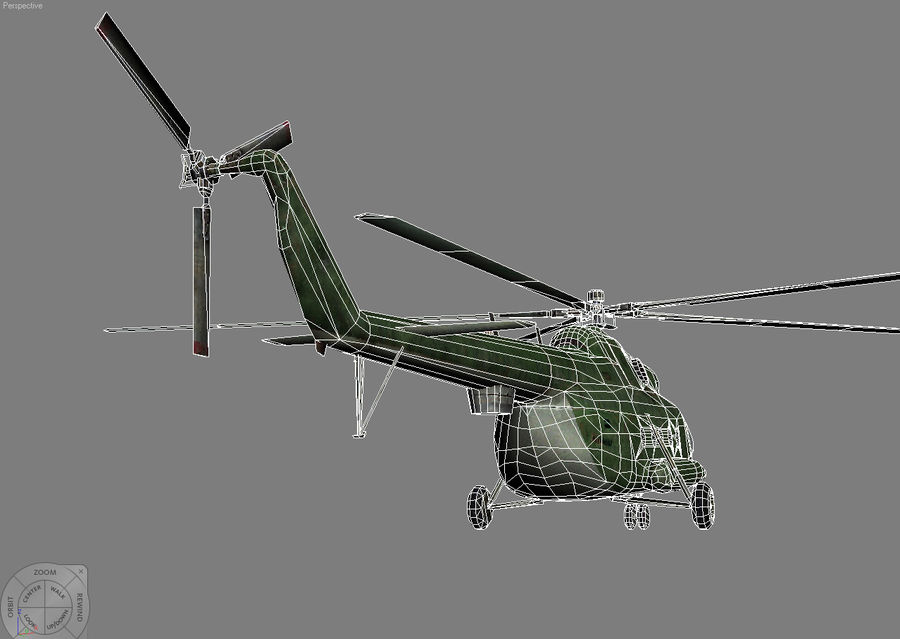 Mi-8 helicopter royalty-free 3d model - Preview no. 12