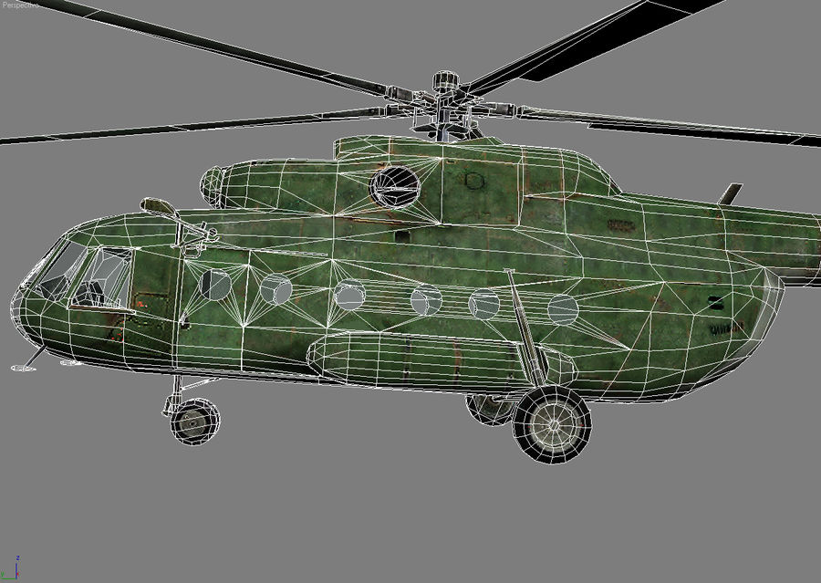 Mi-8 helicopter royalty-free 3d model - Preview no. 7